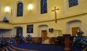 Tour Scotland Photograph Christmas Tree Parish Church of St Andrew and St Georg Edinburgh